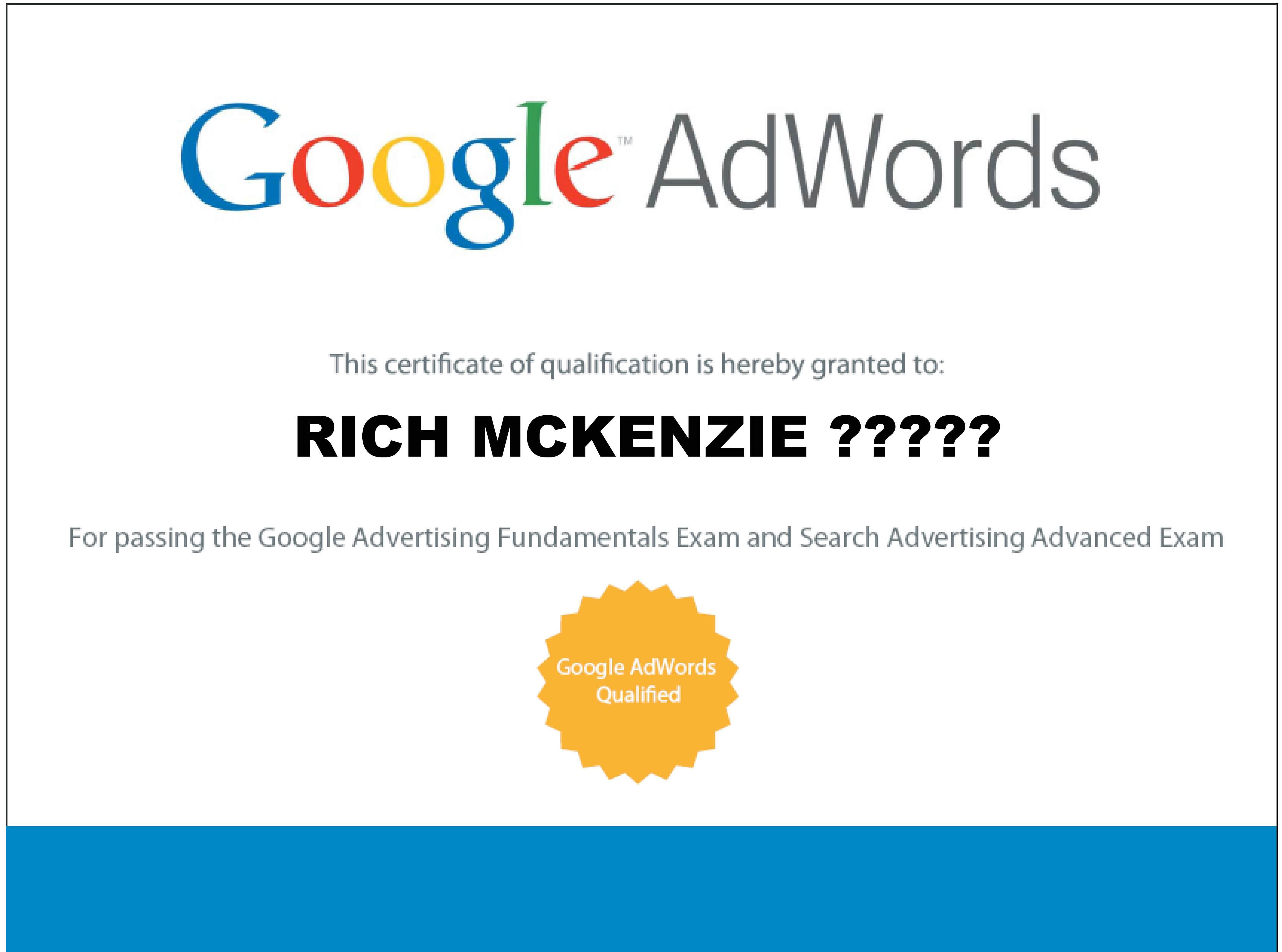 Google Adwords Rich Mckenzie