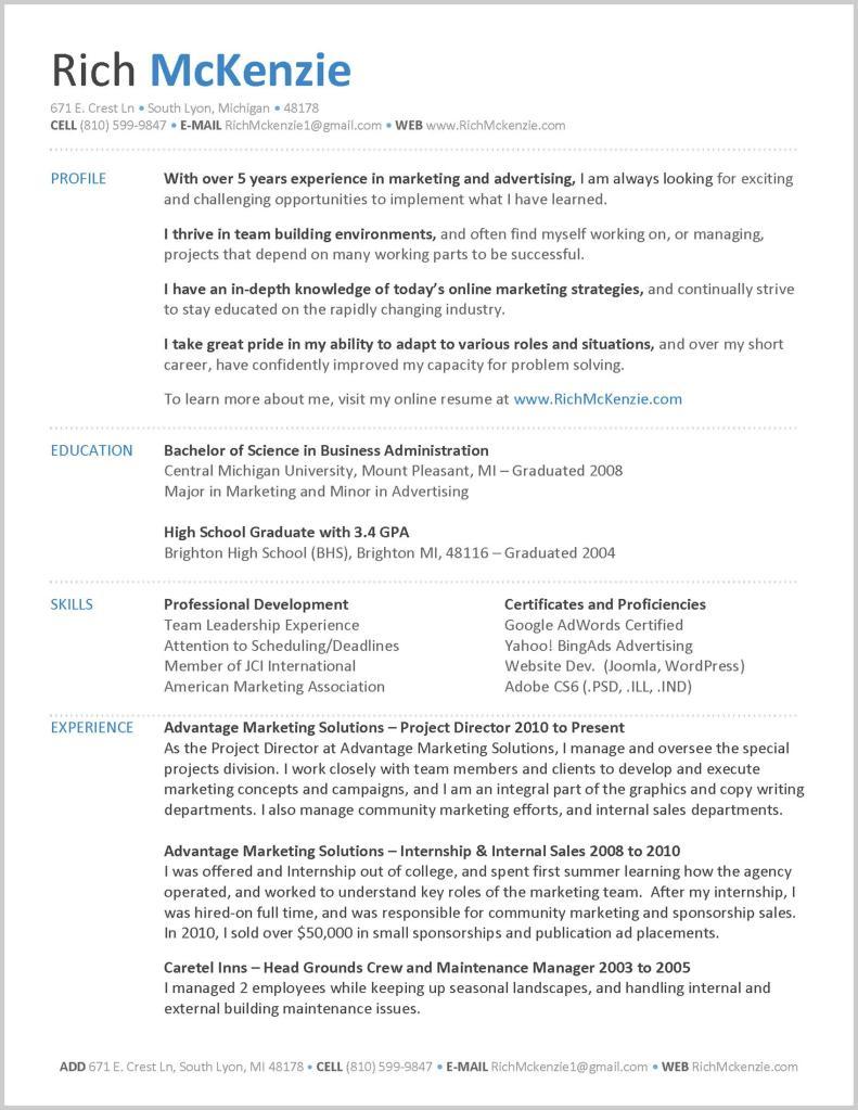 my resume rich mckenzie